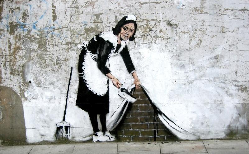 Banksy Sweep It Under The Carpet Street Art