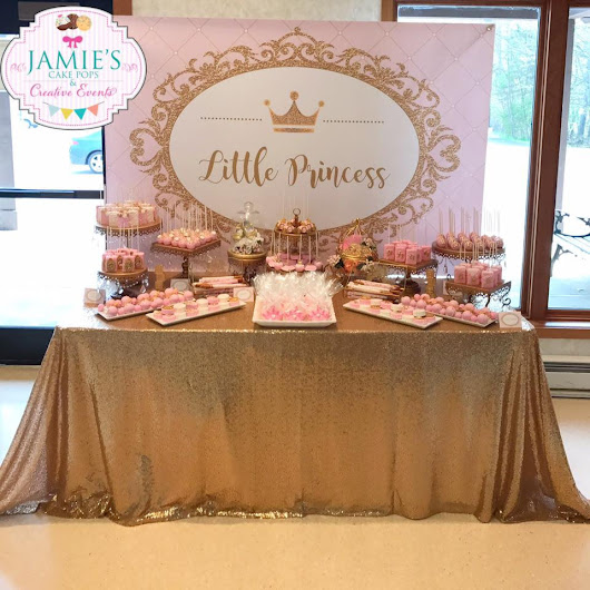 Little Princess Pink And Gold Baby Shower