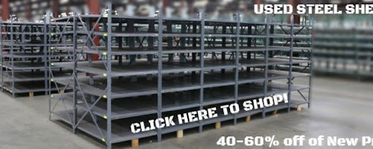Used Steel Shelving up to 60% off New