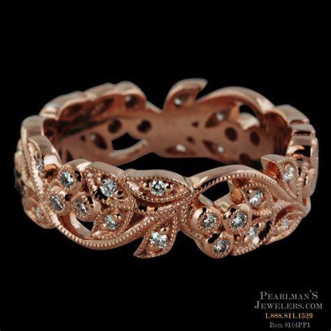 Beverley K 18kt Rose Gold Diamond Filigree Band