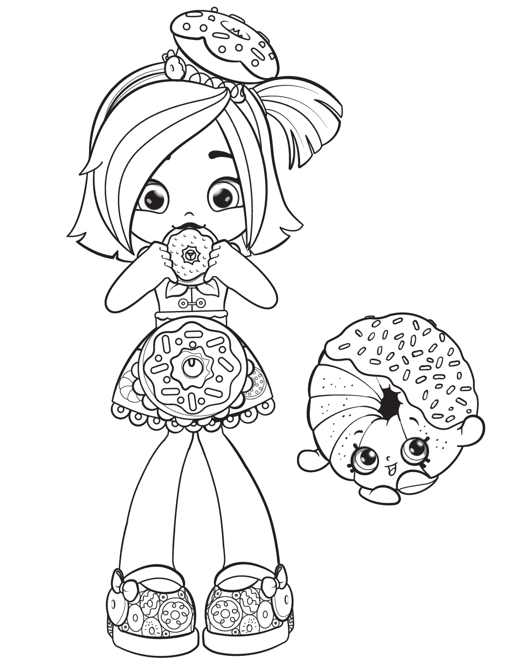 930+ Shopkins Shoppies Coloring Book Picture HD