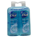 Dial Antibacterial Body Wash, Spring Water - 2 count, 35 fl oz count
