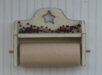 Primitive Paper Towel Holder Country Primitive Kitchen Bathroom Decor Paper Towel Holders