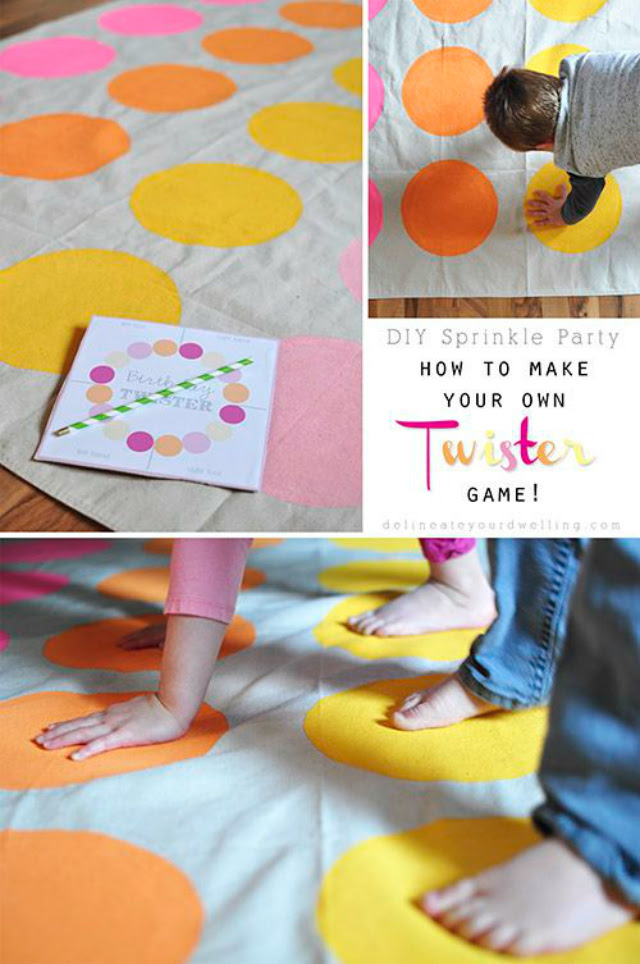 how to make your own twister game