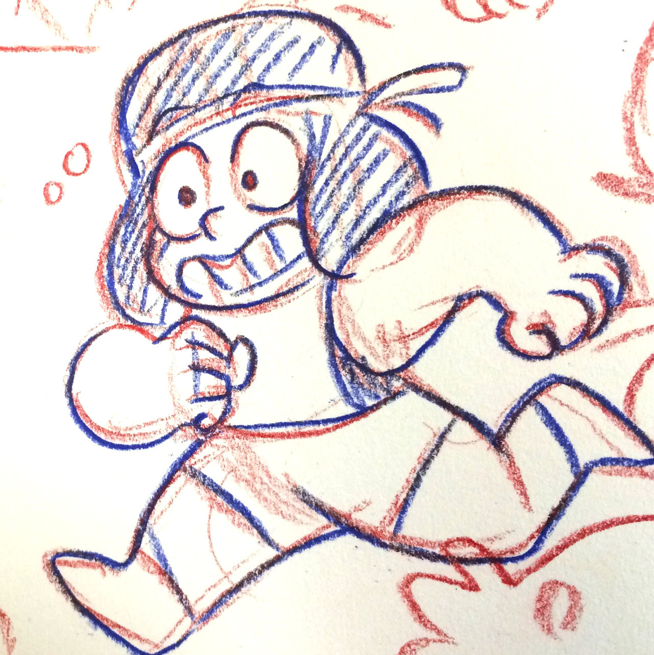 I Ruby-bombed my sketchbook today