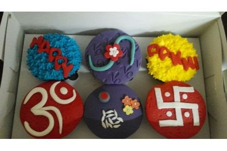 Learn beautiful designer cup cakes on this Rakhi