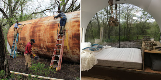 Rusty Storage Tank Turned Micro Home – Building Homes and Living