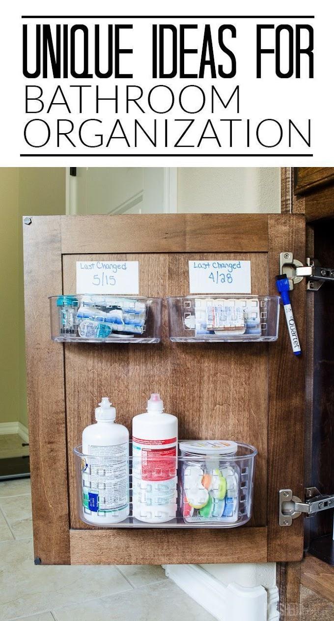 Tiny Bathroom Organization Under Sink