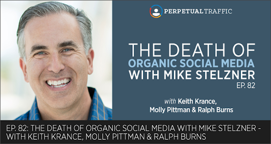 Episode 82: The Death of Organic Social Media with Mike Stelzner |Perpetual Traffic