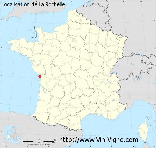 Carte La Rochelle France.La Rochelle Carte De France Carte
