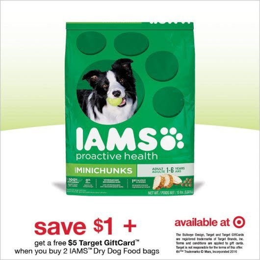 $1 Off IAMS Dog Food PLUS $5 Target Gift Card! #IamsDogOffer
