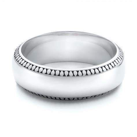 mens engraved wedding band  seattle bellevue