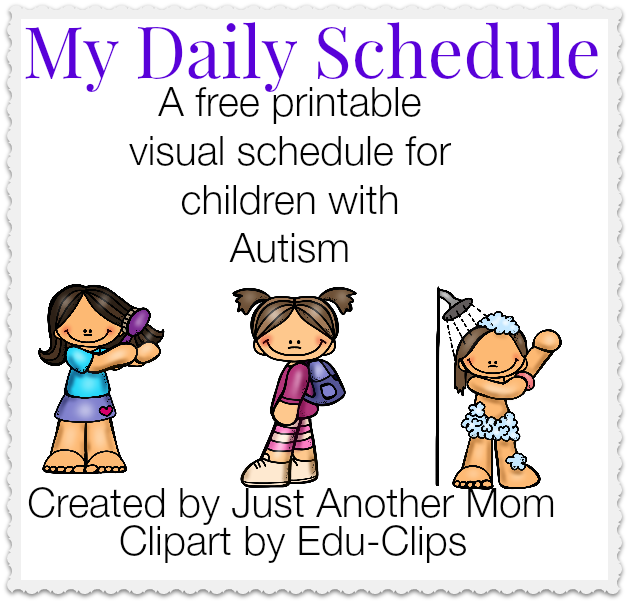 My Daily Schedule: A free printable visual schedule | Special ...