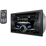 Double-DIN In-Dash CD-MP3 AM-FM Receiver with Bluetooth
