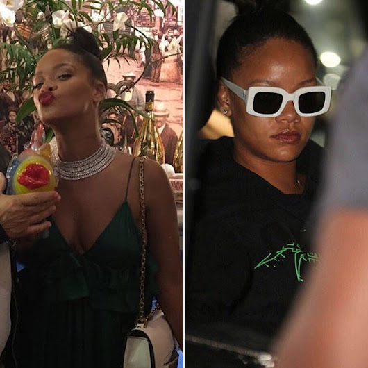 Rihanna Spotted in Cannes Wearing Rochas, Off-White - Haus of Rihanna