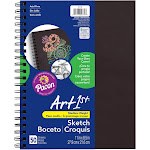 Pacon Sketch Diary Chip Cover 11x8.5 BLK, Black