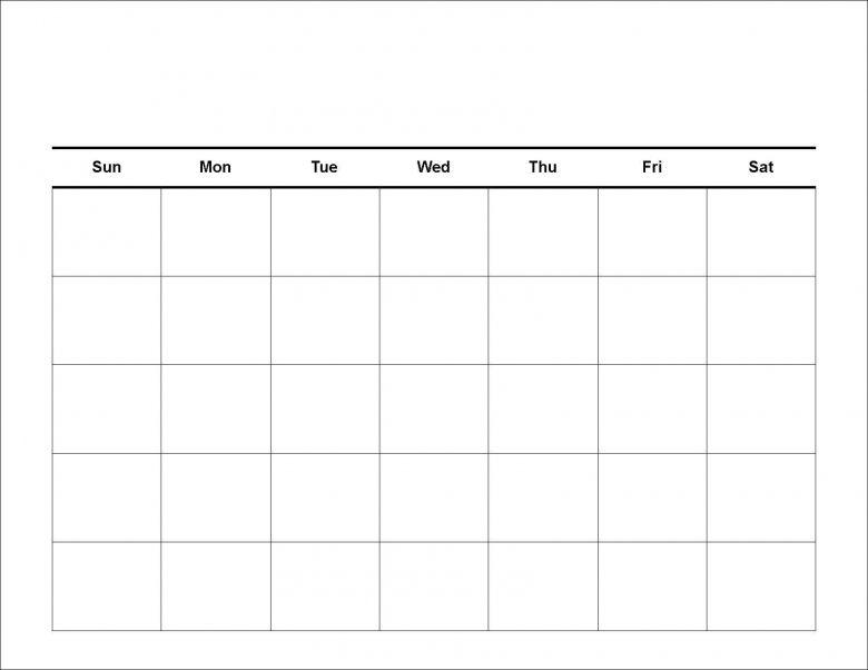 1000+ ideas about Printable Blank Calendar on Pinterest   Blank ...