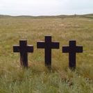 Visión del cementerio de Spassk, una fosa común donde están enterrados aproximadamente 7.700 cuerpos (prisioneros de guerra e internados civiles extranjeros).