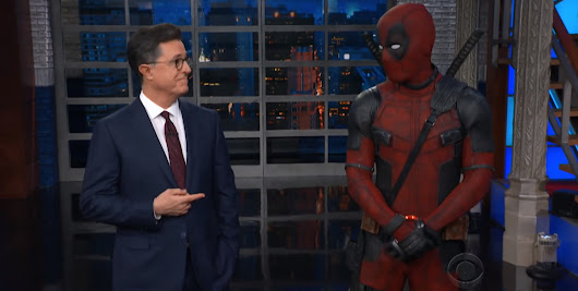 Deadpool Crashes Stephen Colbert's Show and Makes Fun of Ryan Reynolds and Donald Trump [Video]