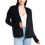 Vince Womens Ribbed Wool & Cashmere-Blend Cardigan