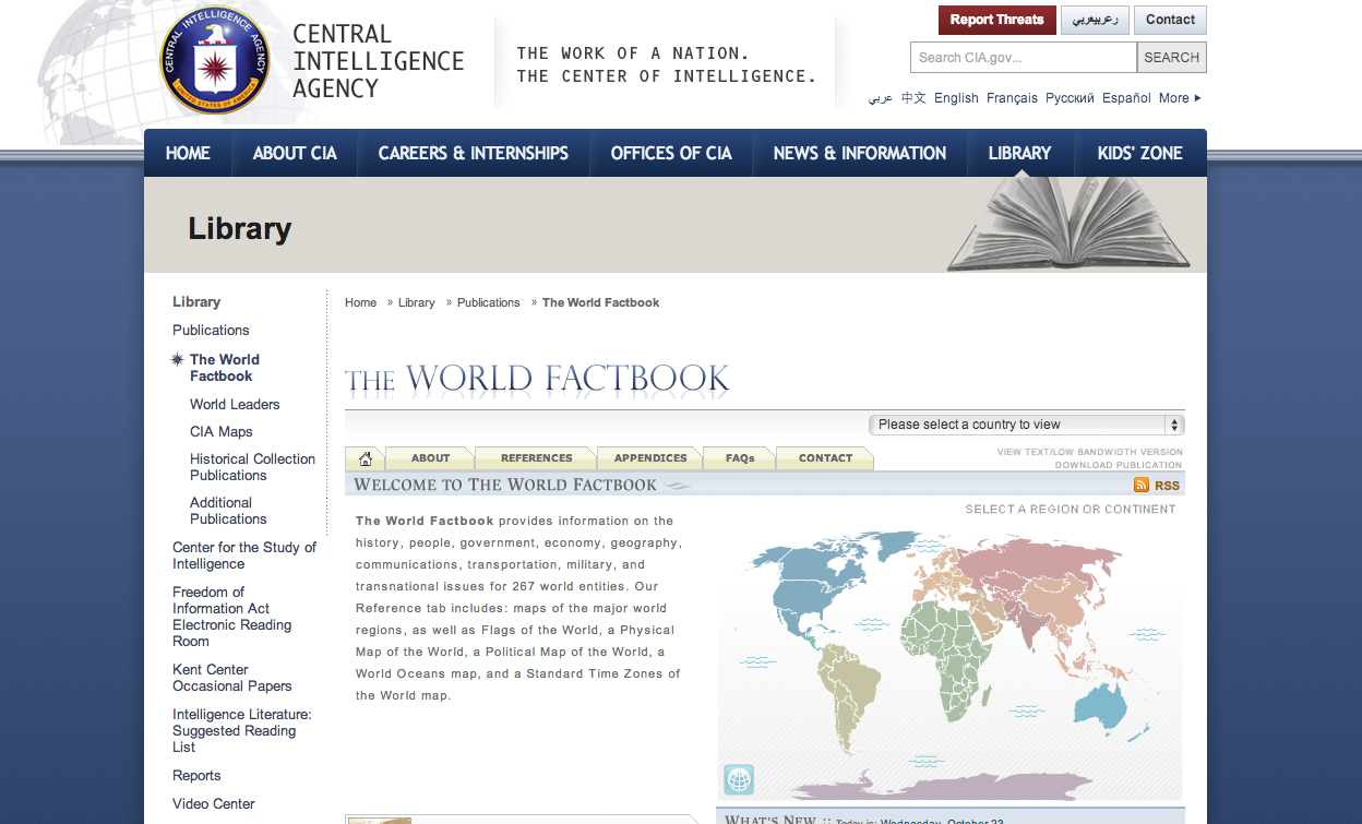 23. The World Factbook
