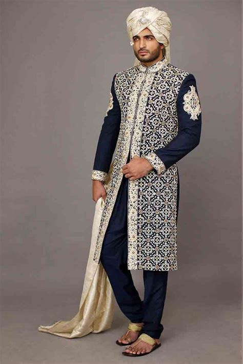Wedding Sherwani Designs For Groom Barat In 2019 in 2019