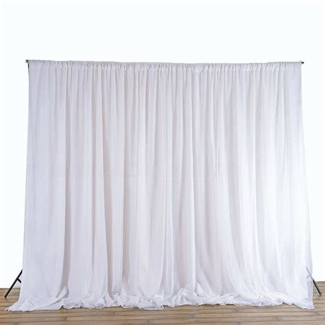 white wedding party backdrop curtain drapes