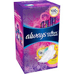 Always Radiant Regular Scented Pads with Wings, 30 Count