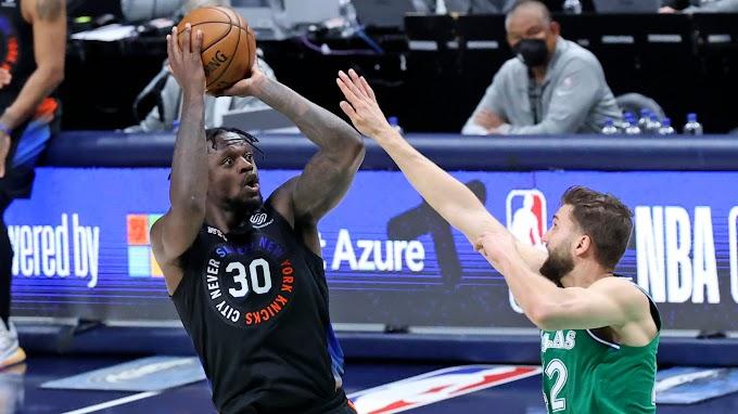 Julius Randle powers Knicks past Mavericks for fifth consecutive win