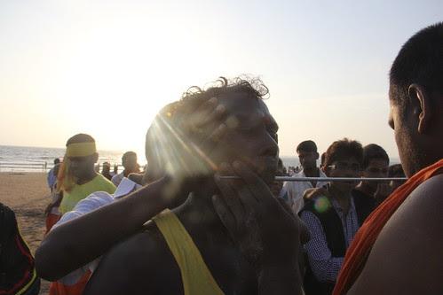 Hardcore Cheek Piercing Juhu Beach - Marriammen Feast 2013 by firoze shakir photographerno1
