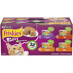 Purina Friskies Classic Pate Cat Food, Poultry Favorites Variety Pack - 32 cans, 5.5 oz each