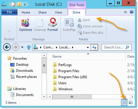 Windows 8 Explorer Changes