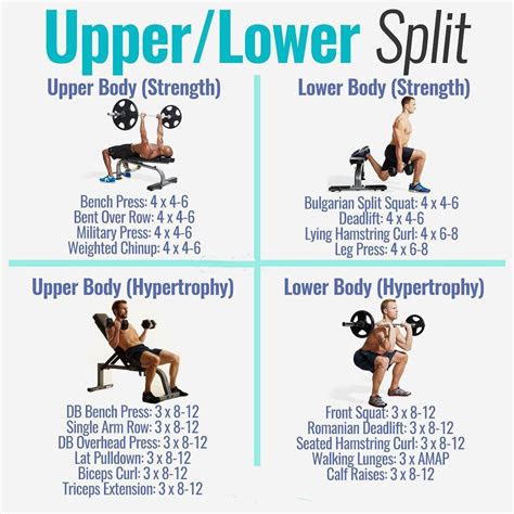 powerful muscle building gym training splits fitness