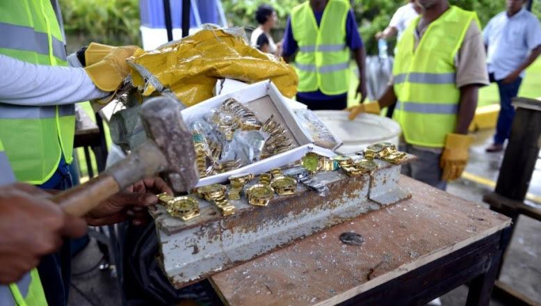 Aduanas destruye mercancía falsificada valorada en más de 415 millones pesos