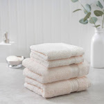 Charisma Soft 100% Hygro Cotton 4-piece Hand & Washcloth Towel Set, Ivory Powder