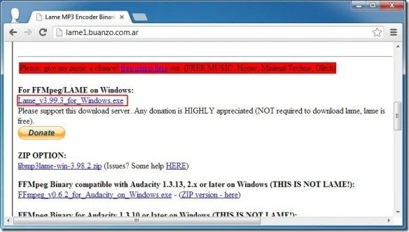 Ffmpeg Audacity Download Windows