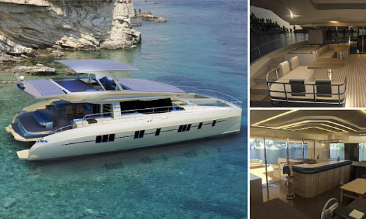 Take a peek at the world's first solar-powered, zero emissions yacht