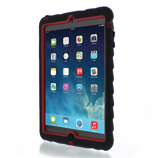 Apple iPad mini Case Silicone Dual Layer Cover Case Color Blac – Phone Cases
