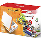 Nintendo 2DS XL with Mario Kart 7 - Orange/White