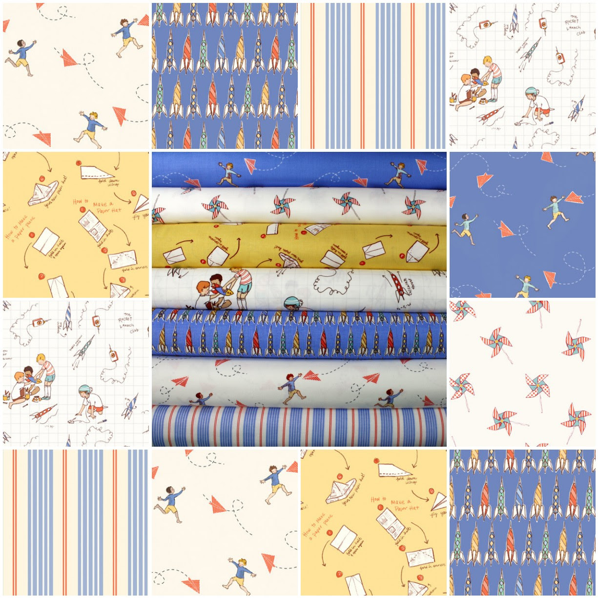 Fabrics for Friday's Giveaway!!! Sarah Jane's Children at Play 1/2 yd bundle