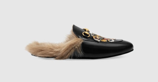 Princetown slipper with tiger - Gucci Men's Moccasins & Loafers 451209DKHH01063
