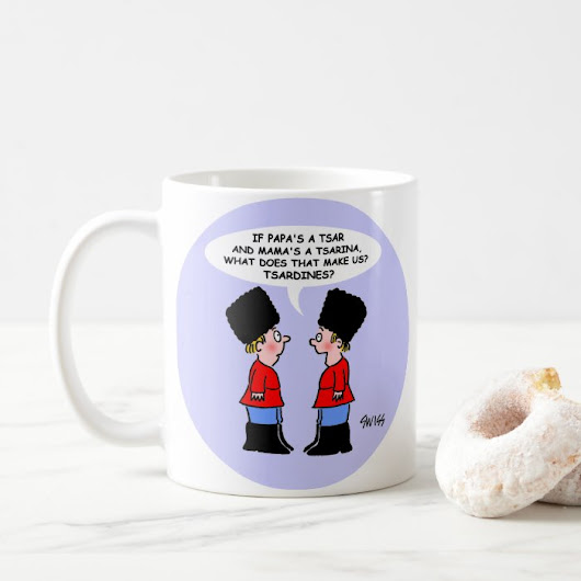 Funny Russian Cartoon Gift Coffee Mug