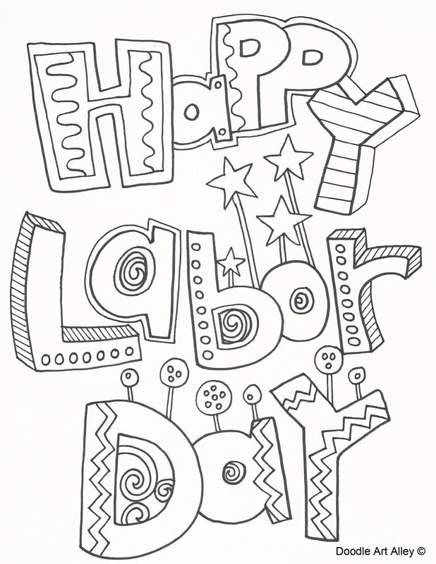 Labor Day Coloring Pages - Doodle Art Alley