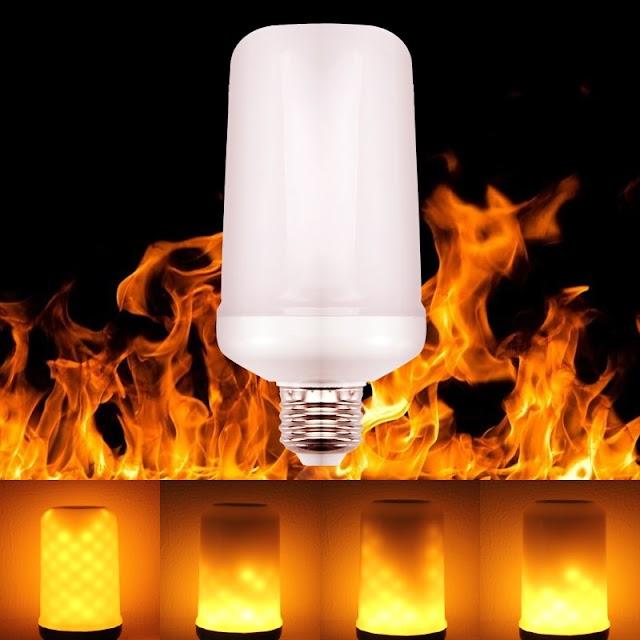 Kopen Goedkoop Goodland LED Vlam Lamp Zwaartekracht Sensor Effect Gloeilamp 220 V 110 Flickering Creatieve Emulatie Decoratie Verlichting Online