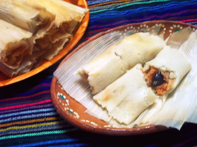 Shredded Pork Tamales with Chile Colorado Sauce - lacocinadeleslie.com