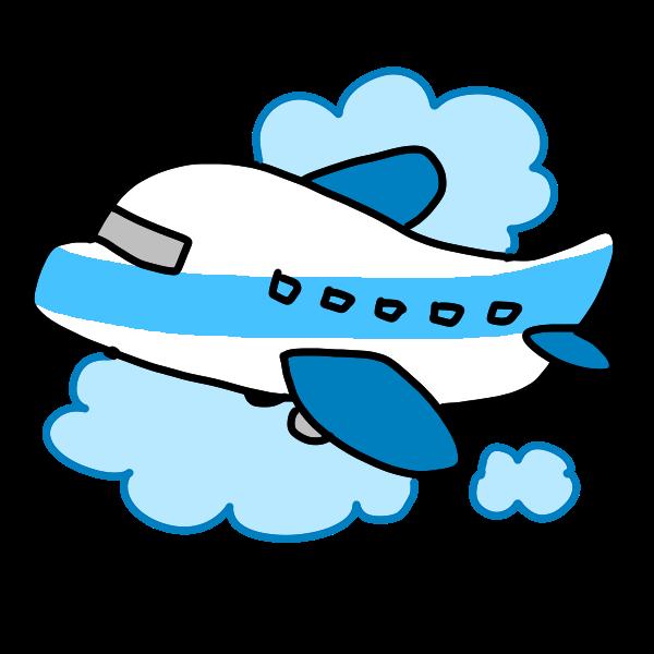 飛行機で旅行のイラスト かわいいフリー素材が無料のイラストレイン