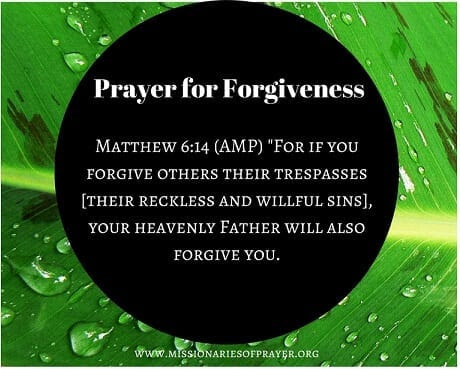 Prayer for Forgiveness -
