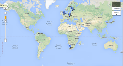 Cape Town On World Map | World Map Gray