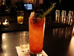 Rosemary-Blackberry-Rum Cocktail