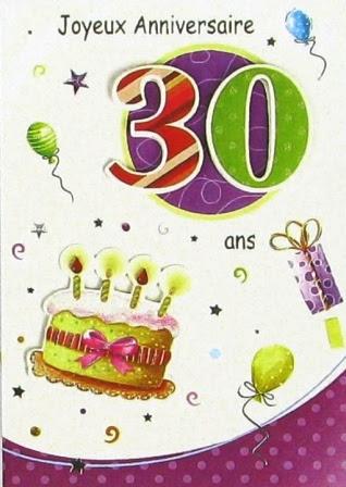 Carte Invitation Anniversaire 30 Ans
